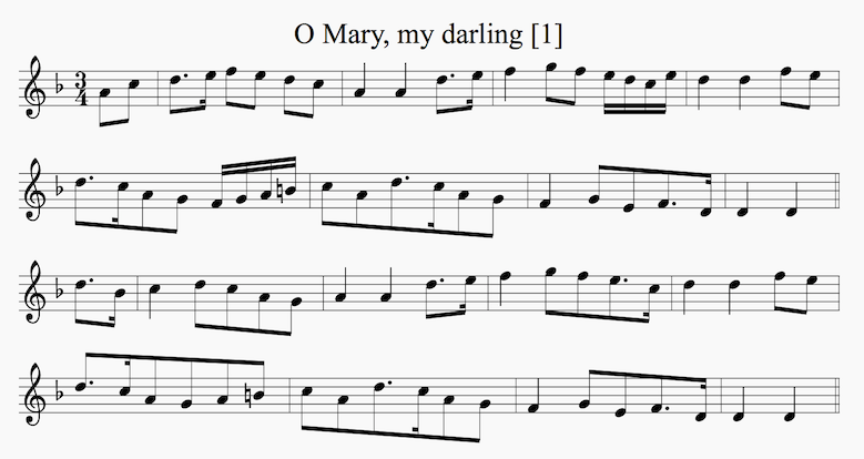 o mary my darling